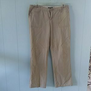 Tommy hilfiger career straight cut pants in cream